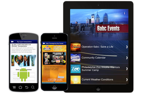 6abc Events App for iPad, iPhone and Android