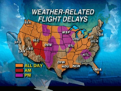 Possible Flight Delay Map