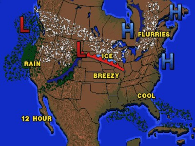 Fronts and Pressure Map