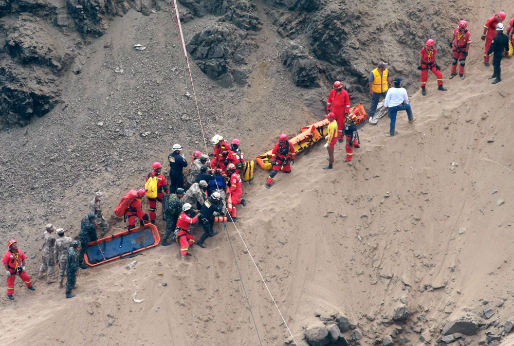 Image result for Peru Pasamayo: Dozens killed as coach plunges off cliff