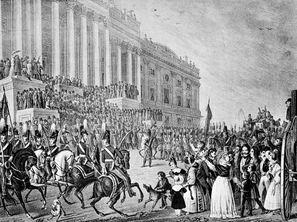 <div class='meta'><div class='origin-logo' data-origin='AP'></div><span class='caption-text' data-credit='AP Photo'>This is an artist's impression of President William Henry Harrison's inauguration in Washington, D.C., on March 4, 1841.</span></div>
