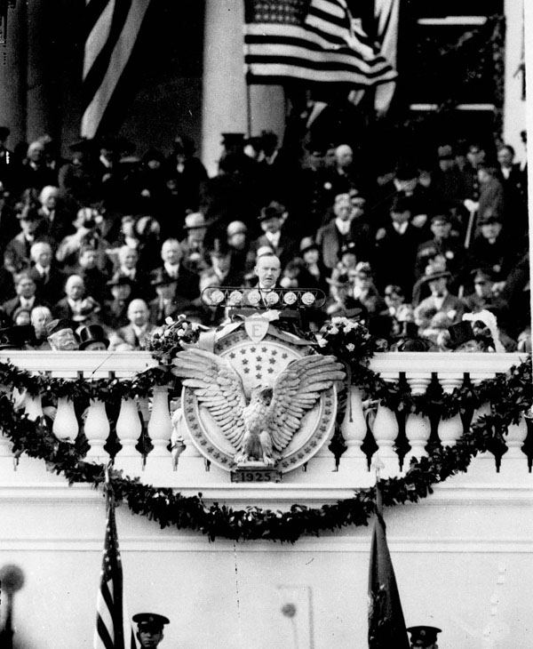 <div class='meta'><div class='origin-logo' data-origin='none'></div><span class='caption-text' data-credit='AP Photo'>Calvin Coolidge at his inauguration March 4, 1925 as 30th President of the United States.</span></div>