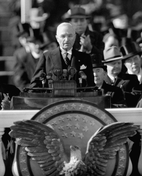 <div class='meta'><div class='origin-logo' data-origin='AP'></div><span class='caption-text' data-credit='AP Photo'>The inauguration of President Harry S. Truman in 1949.</span></div>