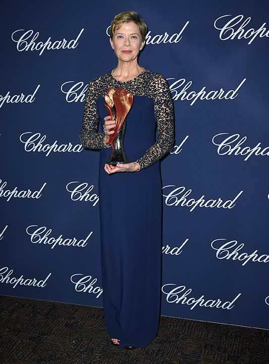 "<div class=""meta image-caption""><div class=""origin-logo origin-image none""><span>none</span></div><span class=""caption-text"">Annette Bening poses backstage with the Career Achievement award for ''20th Century Women'' arrives at the 28th annual Palm Springs International Film Festival Awards Gala. (Jordan Strauss/Invision/AP)</span></div>"