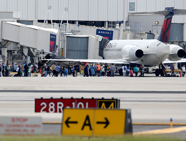 "<div class=""meta image-caption""><div class=""origin-logo origin-image none""><span>none</span></div><span class=""caption-text"">People stand on the tarmac at the Fort Lauderdale-Hollywood International Airport after a shooter opened fire inside the terminal. (Lynne Sladky/AP Photo)</span></div>"