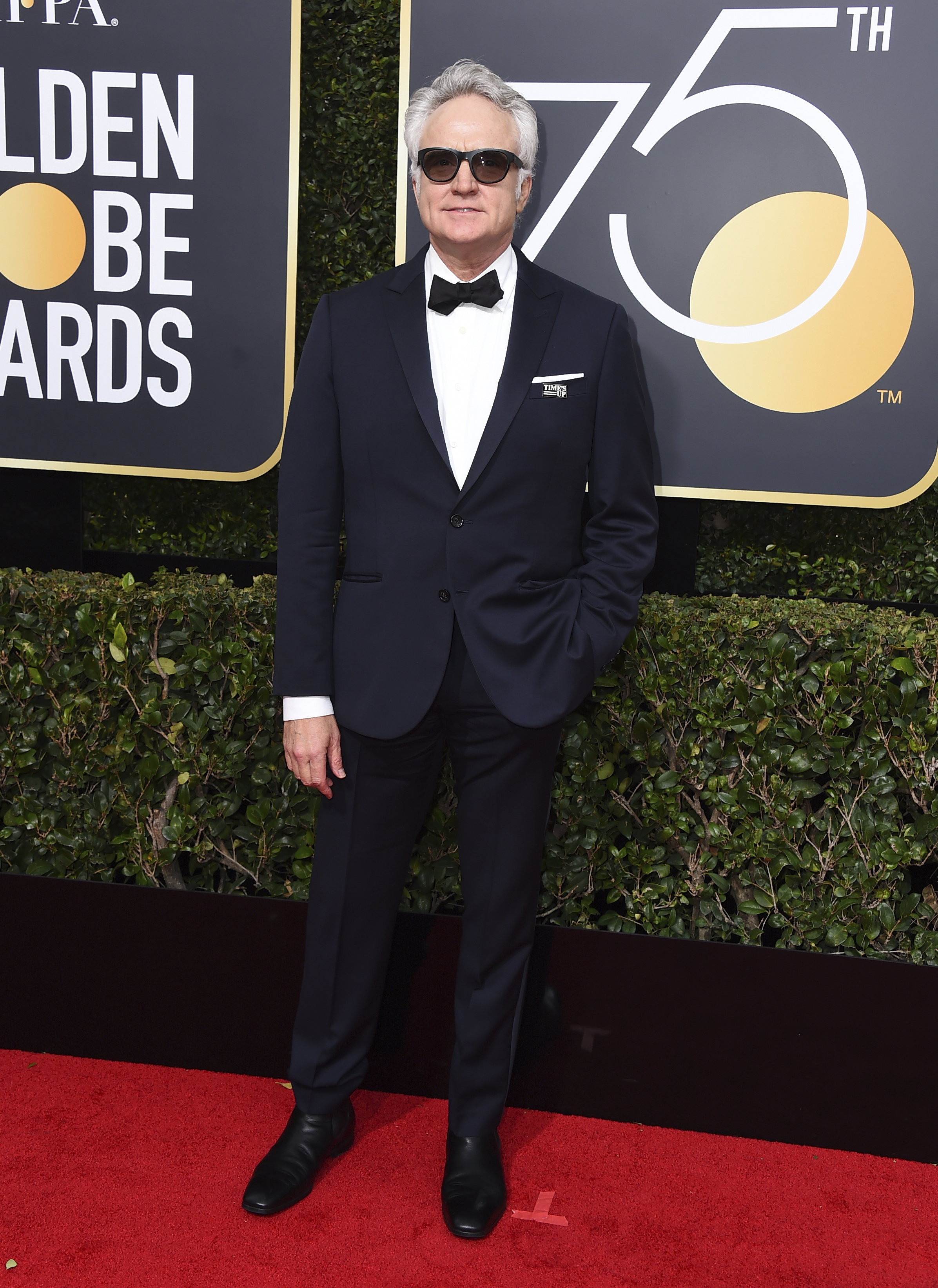 <div class='meta'><div class='origin-logo' data-origin='AP'></div><span class='caption-text' data-credit='Jordan Strauss/Invision/AP'>Bradley Whitford arrives at the 75th annual Golden Globe Awards at the Beverly Hilton Hotel on Sunday, Jan. 7, 2018, in Beverly Hills, Calif.</span></div>