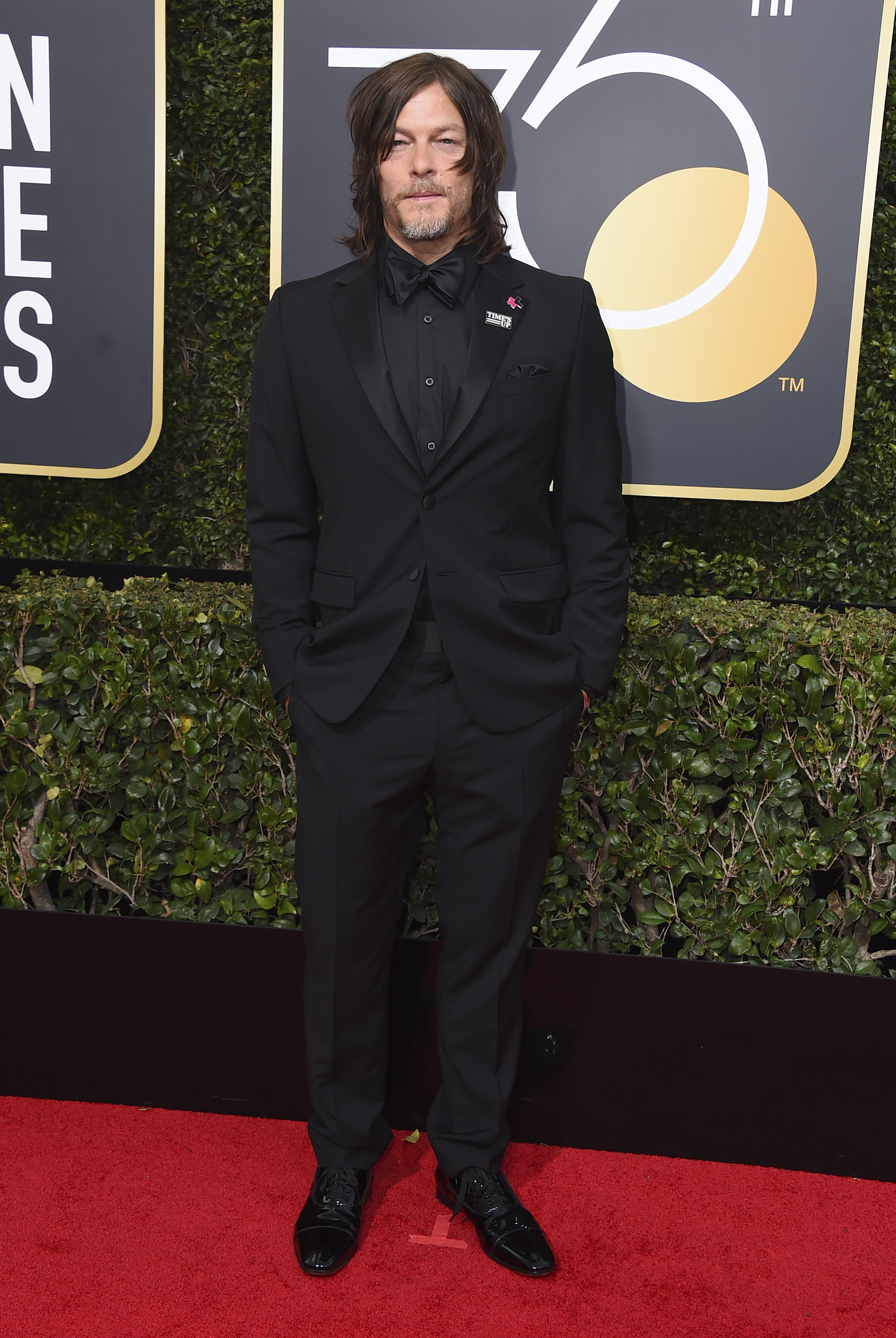 <div class='meta'><div class='origin-logo' data-origin='AP'></div><span class='caption-text' data-credit='Jordan Strauss/Invision/AP'>Norman Reedus arrives at the 75th annual Golden Globe Awards at the Beverly Hilton Hotel on Sunday, Jan. 7, 2018, in Beverly Hills, Calif.</span></div>
