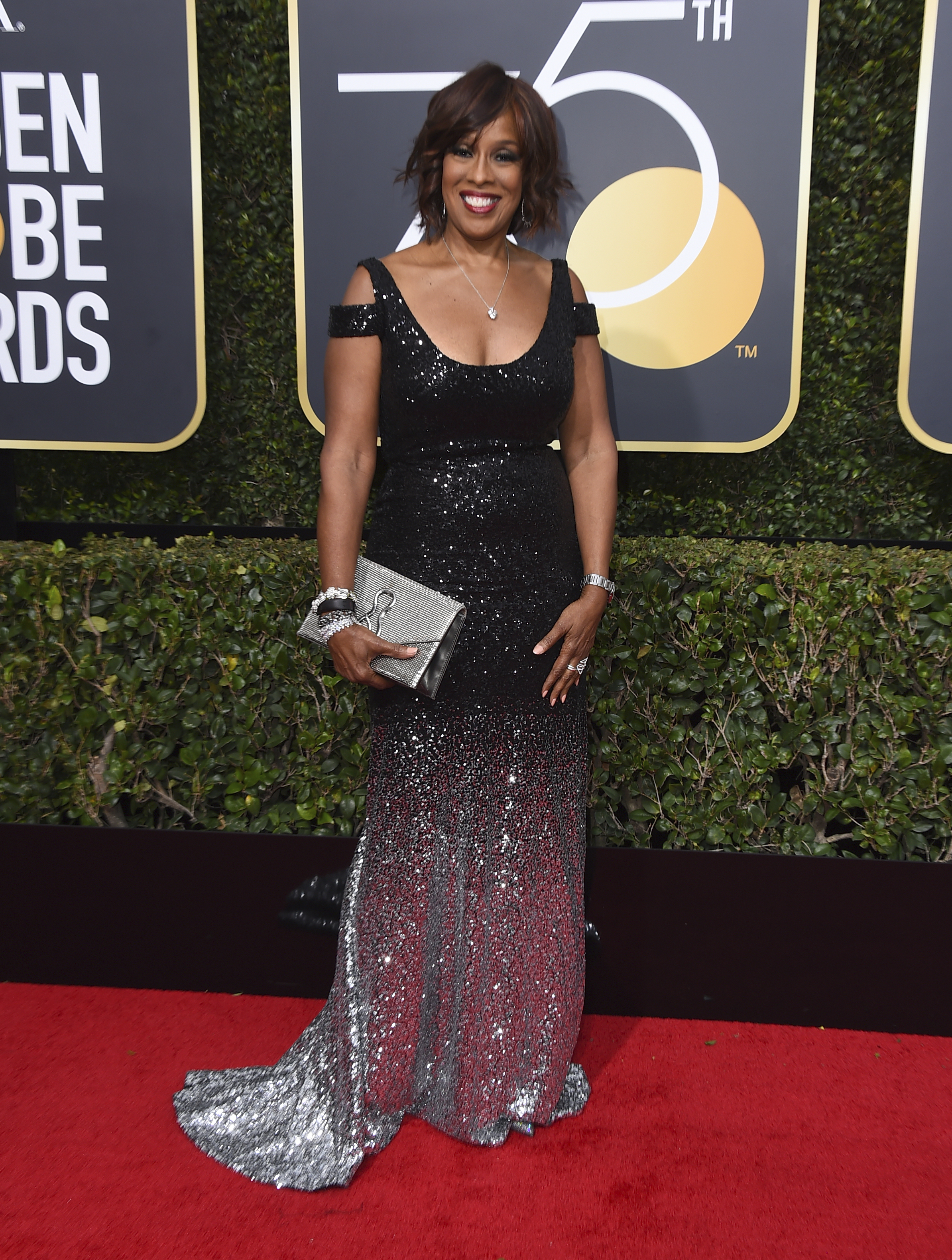 <div class='meta'><div class='origin-logo' data-origin='AP'></div><span class='caption-text' data-credit='Jordan Strauss/Invision/AP'>Gayle King arrives at the 75th annual Golden Globe Awards at the Beverly Hilton Hotel on Sunday, Jan. 7, 2018, in Beverly Hills, Calif.</span></div>