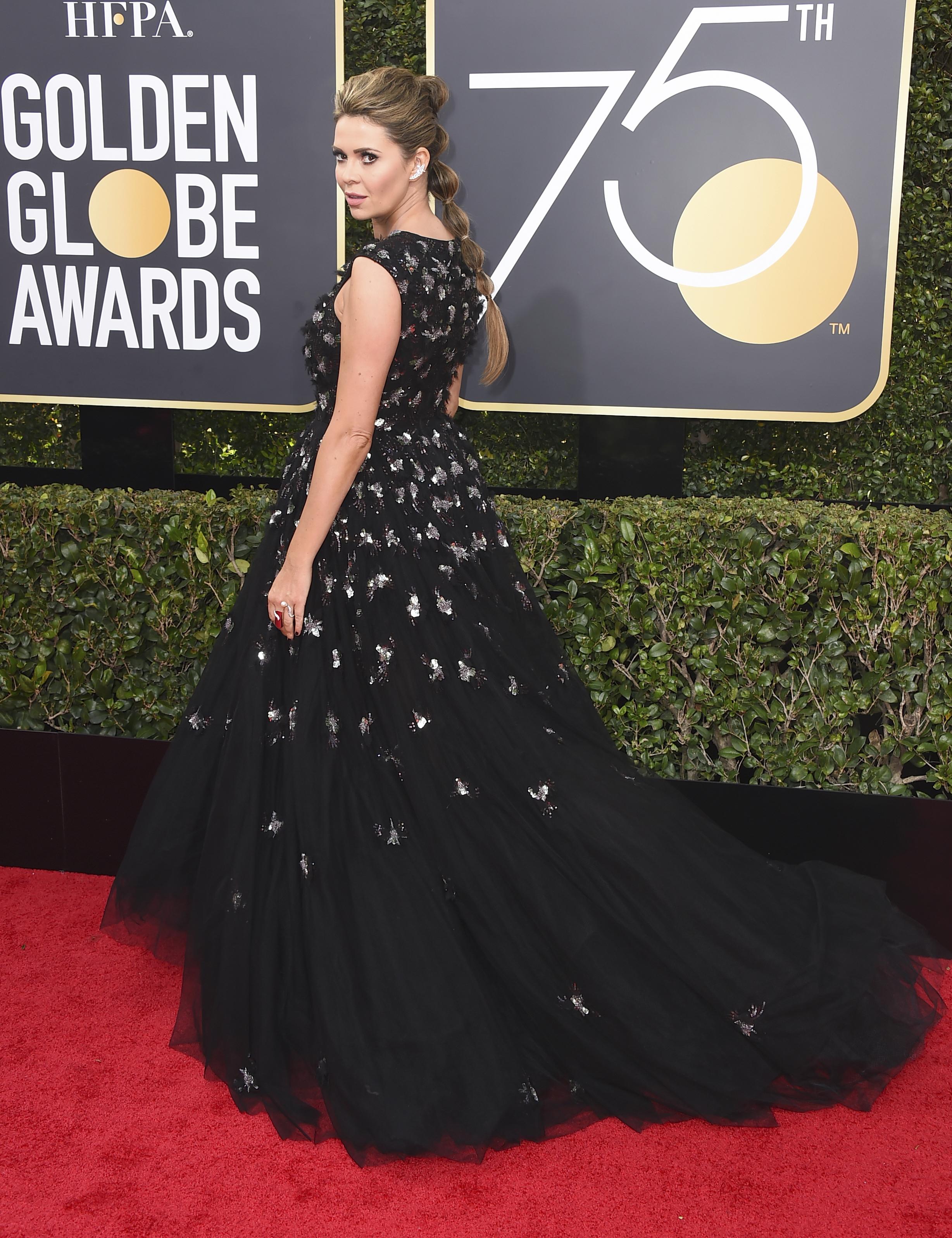 <div class='meta'><div class='origin-logo' data-origin='AP'></div><span class='caption-text' data-credit='Jordan Strauss/Invision/AP'>Carly Steel arrives at the 75th annual Golden Globe Awards at the Beverly Hilton Hotel on Sunday, Jan. 7, 2018, in Beverly Hills, Calif.</span></div>