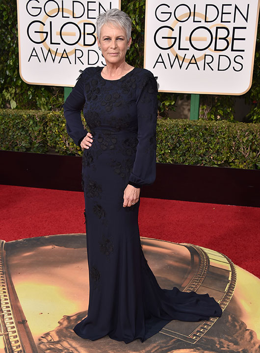 "<div class=""meta image-caption""><div class=""origin-logo origin-image none""><span>none</span></div><span class=""caption-text"">Jamie Lee Curtis arrives at the 73rd annual Golden Globe Awards on Sunday, Jan. 10, 2016, at the Beverly Hilton Hotel in Beverly Hills, Calif. (Jordan Strauss/Invision/AP)</span></div>"