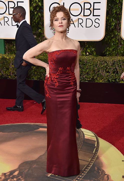"<div class=""meta image-caption""><div class=""origin-logo origin-image none""><span>none</span></div><span class=""caption-text"">Bernadette Peters arrives at the 73rd annual Golden Globe Awards on Sunday, Jan. 10, 2016, at the Beverly Hilton Hotel in Beverly Hills, Calif. (Jordan Strauss/Invision/AP)</span></div>"