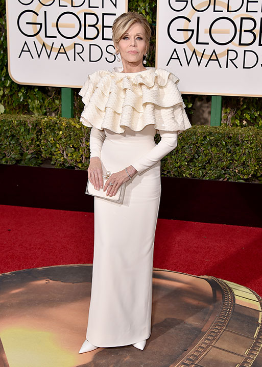 "<div class=""meta image-caption""><div class=""origin-logo origin-image none""><span>none</span></div><span class=""caption-text"">Jane Fonda arrives at the 73rd annual Golden Globe Awards on Sunday, Jan. 10, 2016, at the Beverly Hilton Hotel in Beverly Hills, Calif. (Jordan Strauss/Invision/AP)</span></div>"