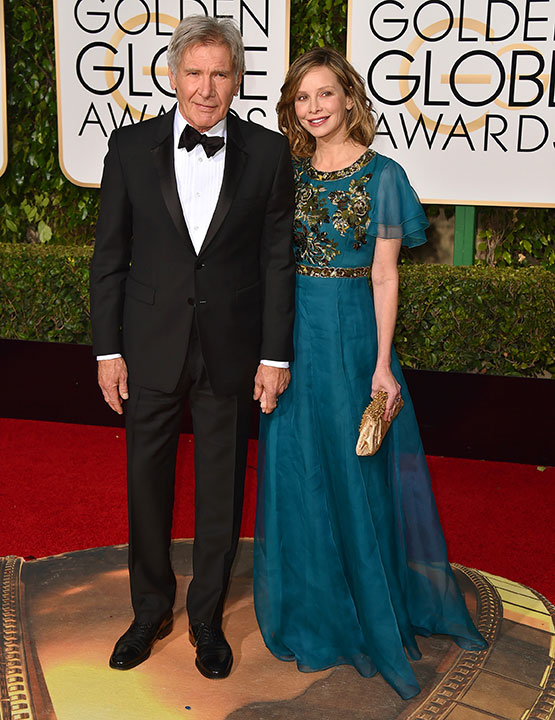 "<div class=""meta image-caption""><div class=""origin-logo origin-image none""><span>none</span></div><span class=""caption-text"">Harrison Ford, left, and Calista Flockhart  arrive at the 73rd annual Golden Globe Awards on Sunday, Jan. 10, 2016, at the Beverly Hilton Hotel in Beverly Hills, Calif. (Jordan Strauss/Invision/AP)</span></div>"