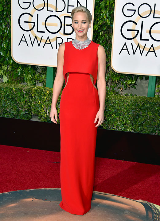 "<div class=""meta image-caption""><div class=""origin-logo origin-image none""><span>none</span></div><span class=""caption-text"">Jennifer Lawrence arrives at the 73rd annual Golden Globe Awards on Sunday, Jan. 10, 2016, at the Beverly Hilton Hotel in Beverly Hills, Calif. (Jordan Strauss/Invision/AP)</span></div>"