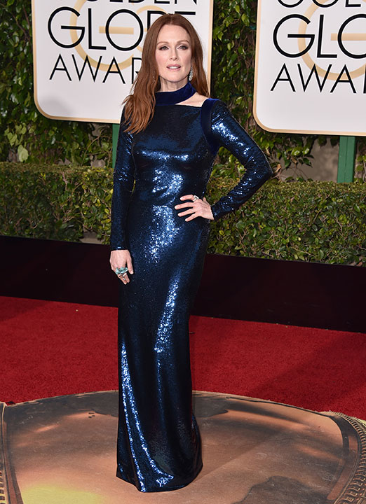 "<div class=""meta image-caption""><div class=""origin-logo origin-image none""><span>none</span></div><span class=""caption-text"">Julianne Moore arrives at the 73rd annual Golden Globe Awards on Sunday, Jan. 10, 2016, at the Beverly Hilton Hotel in Beverly Hills, Calif. (Jordan Strauss/Invision/AP)</span></div>"