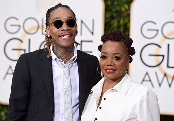 "<div class=""meta image-caption""><div class=""origin-logo origin-image none""><span>none</span></div><span class=""caption-text"">Wiz Khalifa, left, and Peachie Wimbush arrive at the 73rd annual Golden Globe Awards on Sunday, Jan. 10, 2016, at the Beverly Hilton Hotel in Beverly Hills, Calif. (Jordan Strauss/Invision/AP)</span></div>"