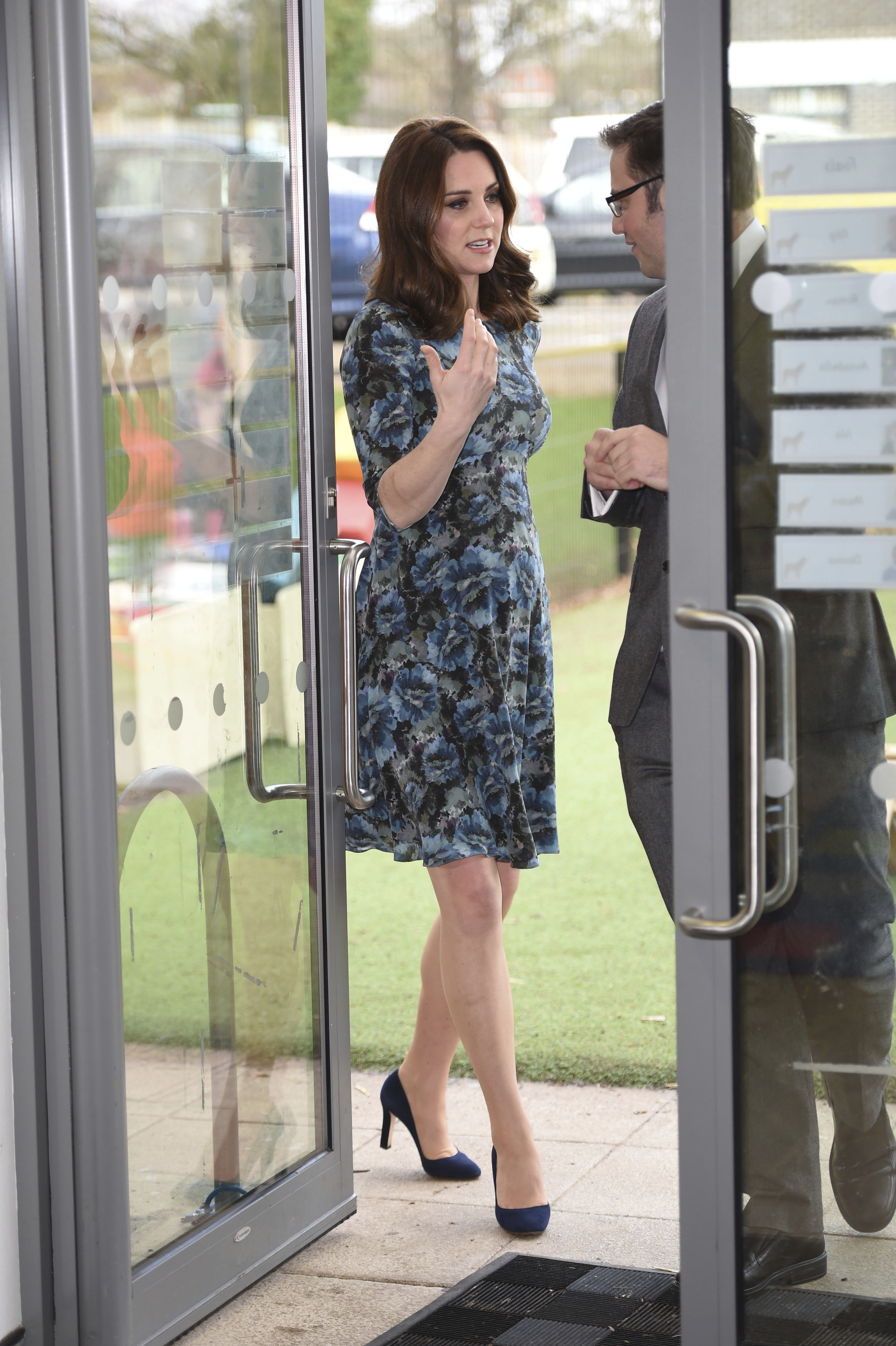 <div class='meta'><div class='origin-logo' data-origin='AP'></div><span class='caption-text' data-credit='Eddie Mulholland/Pool Photo via AP'>Kate, Duchess of Cambridge arrives Jan. 10, 2018 for a visit to the Reach Academy Feltham in London.</span></div>