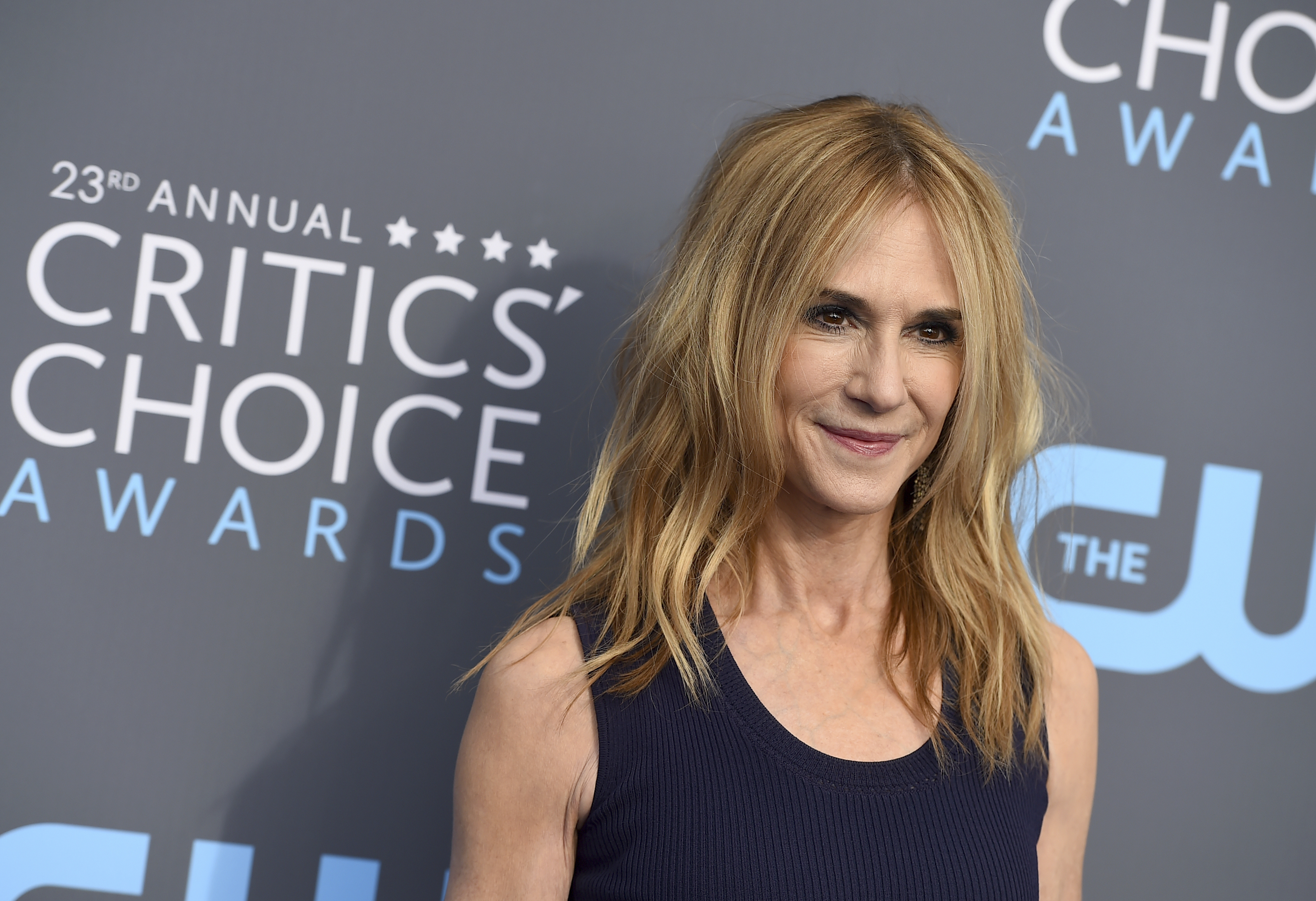 <div class='meta'><div class='origin-logo' data-origin='AP'></div><span class='caption-text' data-credit='Jordan Strauss/Invision/AP'>Holly Hunter arrives at the 23rd annual Critics' Choice Awards at the Barker Hangar on Thursday, Jan. 11, 2018, in Santa Monica, Calif.</span></div>