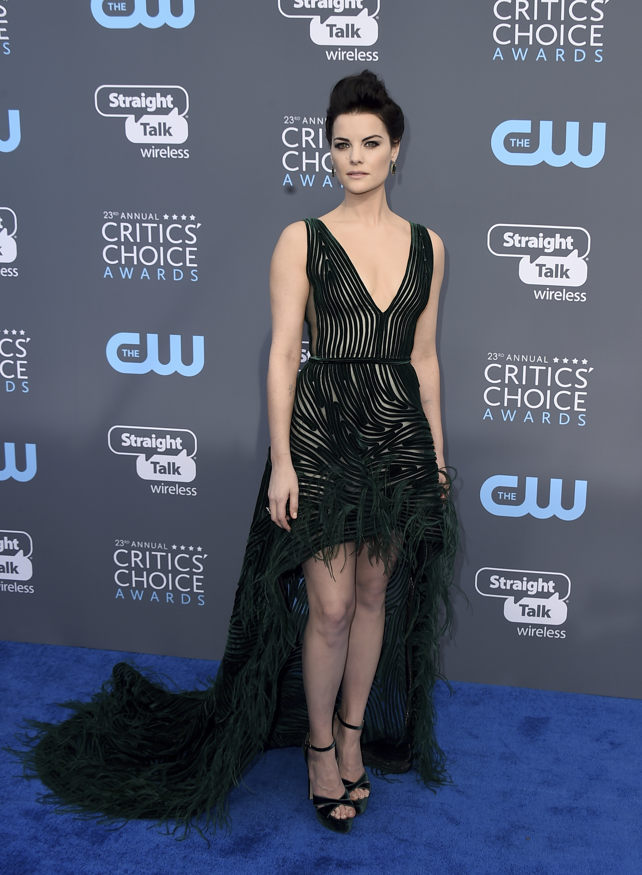 <div class='meta'><div class='origin-logo' data-origin='AP'></div><span class='caption-text' data-credit='Jordan Strauss/Invision/AP'>Jaimie Alexander arrives at the 23rd annual Critics' Choice Awards at the Barker Hangar on Thursday, Jan. 11, 2018, in Santa Monica, Calif.</span></div>