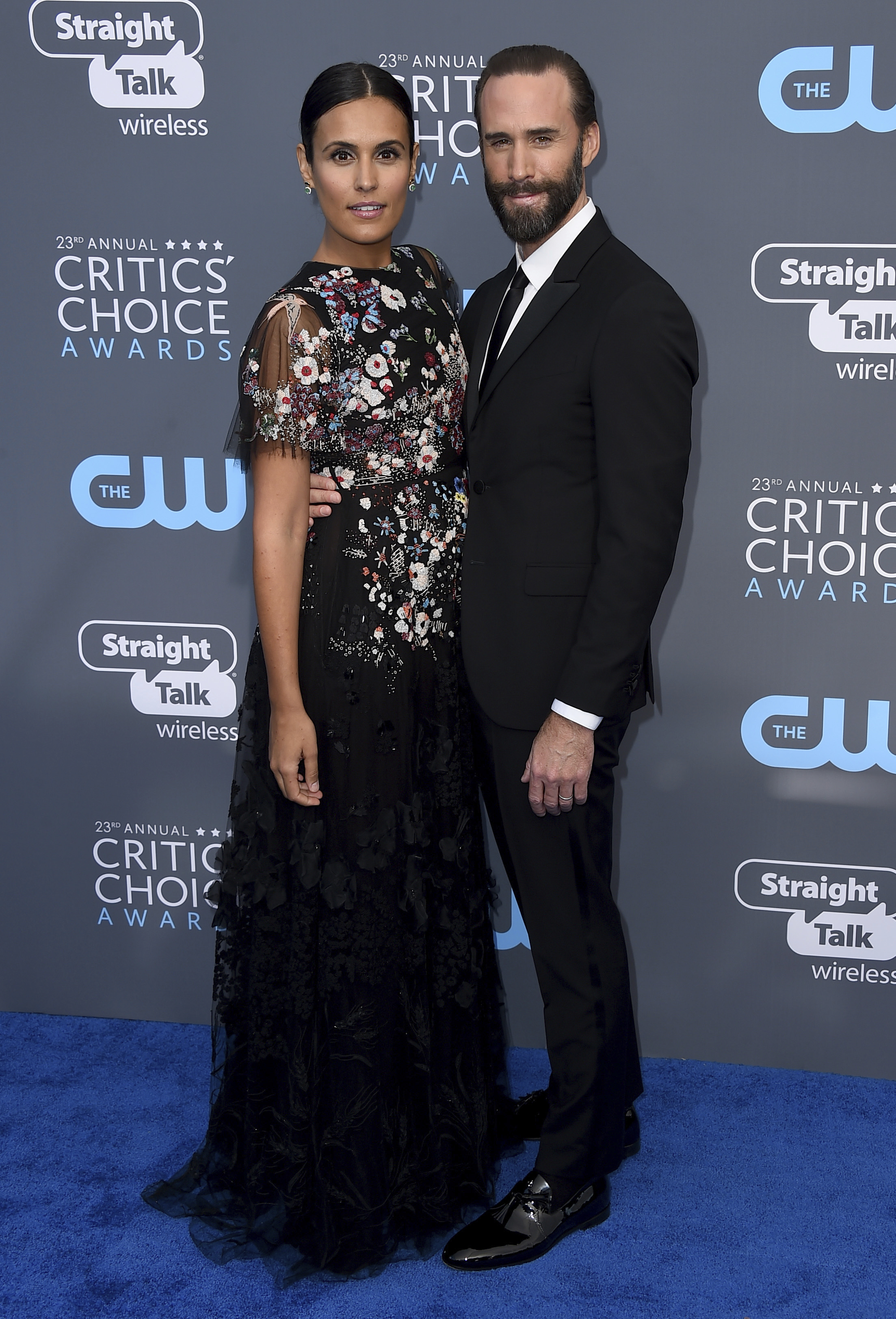 <div class='meta'><div class='origin-logo' data-origin='AP'></div><span class='caption-text' data-credit='Jordan Strauss/Invision/AP'>Maria Dolores Dieguez, left, and Joseph Fiennes arrive at the 23rd annual Critics' Choice Awards at the Barker Hangar on Thursday, Jan. 11, 2018, in Santa Monica, Calif.</span></div>