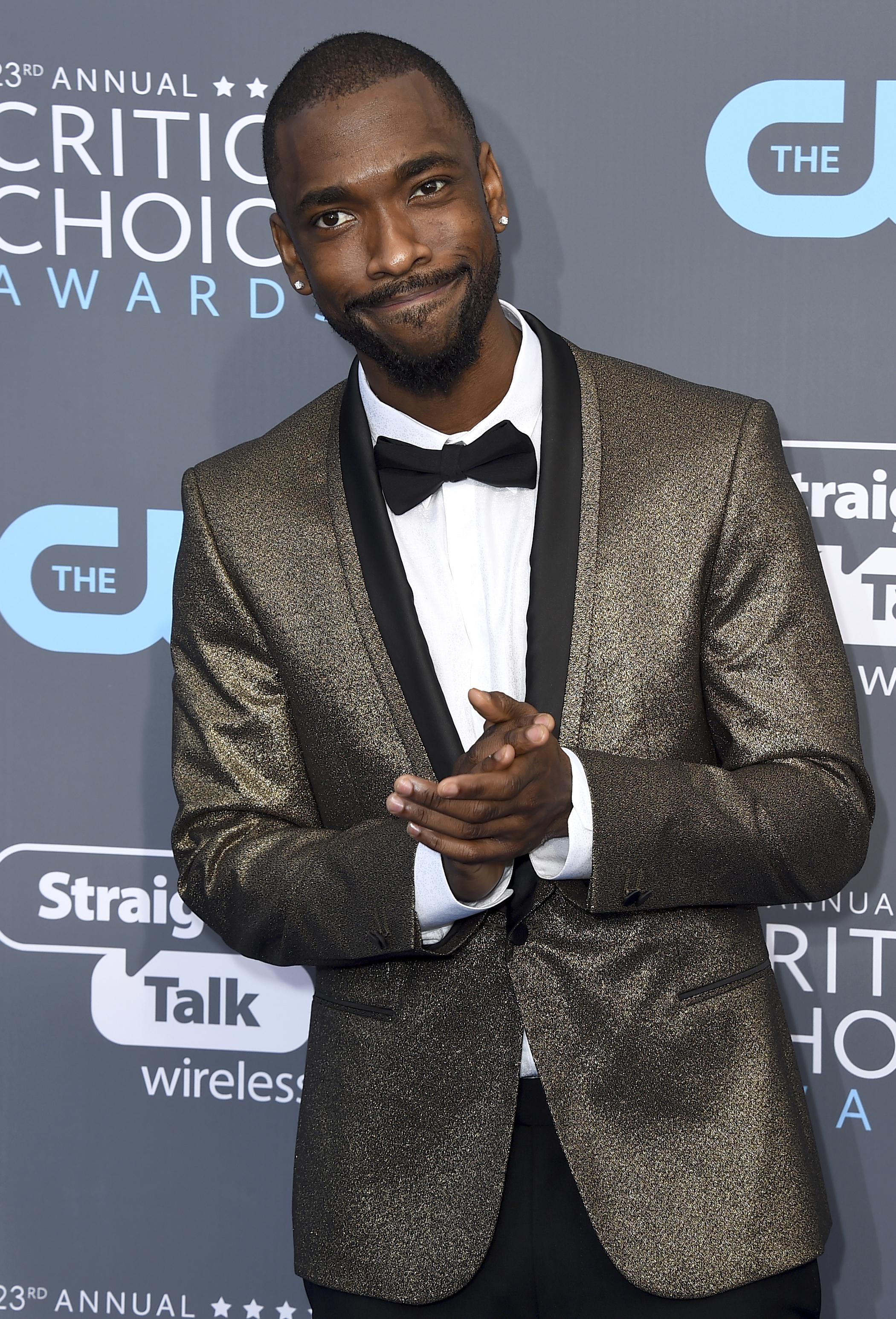 <div class='meta'><div class='origin-logo' data-origin='AP'></div><span class='caption-text' data-credit='Jordan Strauss/Invision/AP'>Jay Pharoah arrives at the 23rd annual Critics' Choice Awards at the Barker Hangar on Thursday, Jan. 11, 2018, in Santa Monica, Calif.</span></div>