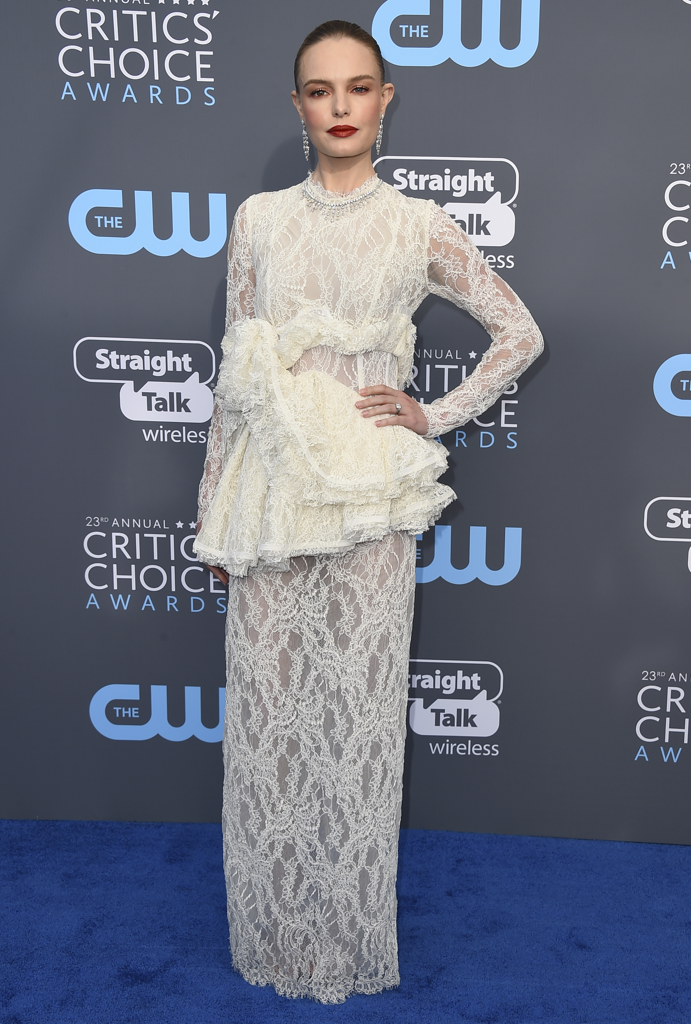 <div class='meta'><div class='origin-logo' data-origin='AP'></div><span class='caption-text' data-credit='Jordan Strauss/Invision/AP'>Kate Bosworth arrives at the 23rd annual Critics' Choice Awards at the Barker Hangar on Thursday, Jan. 11, 2018, in Santa Monica, Calif.</span></div>