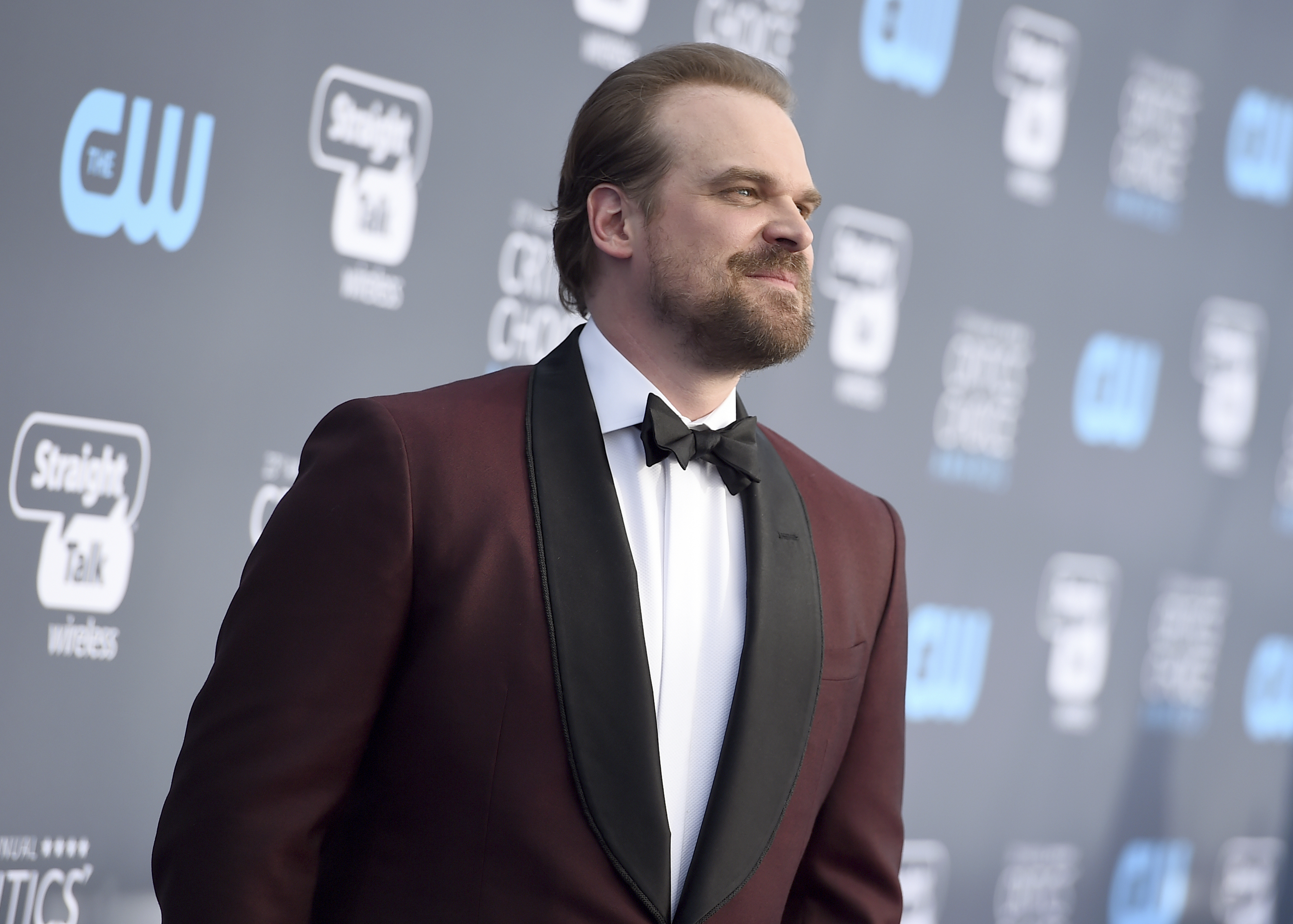 <div class='meta'><div class='origin-logo' data-origin='AP'></div><span class='caption-text' data-credit='Jordan Strauss/Invision/AP'>David Harbour arrives at the 23rd annual Critics' Choice Awards at the Barker Hangar on Thursday, Jan. 11, 2018, in Santa Monica, Calif.</span></div>