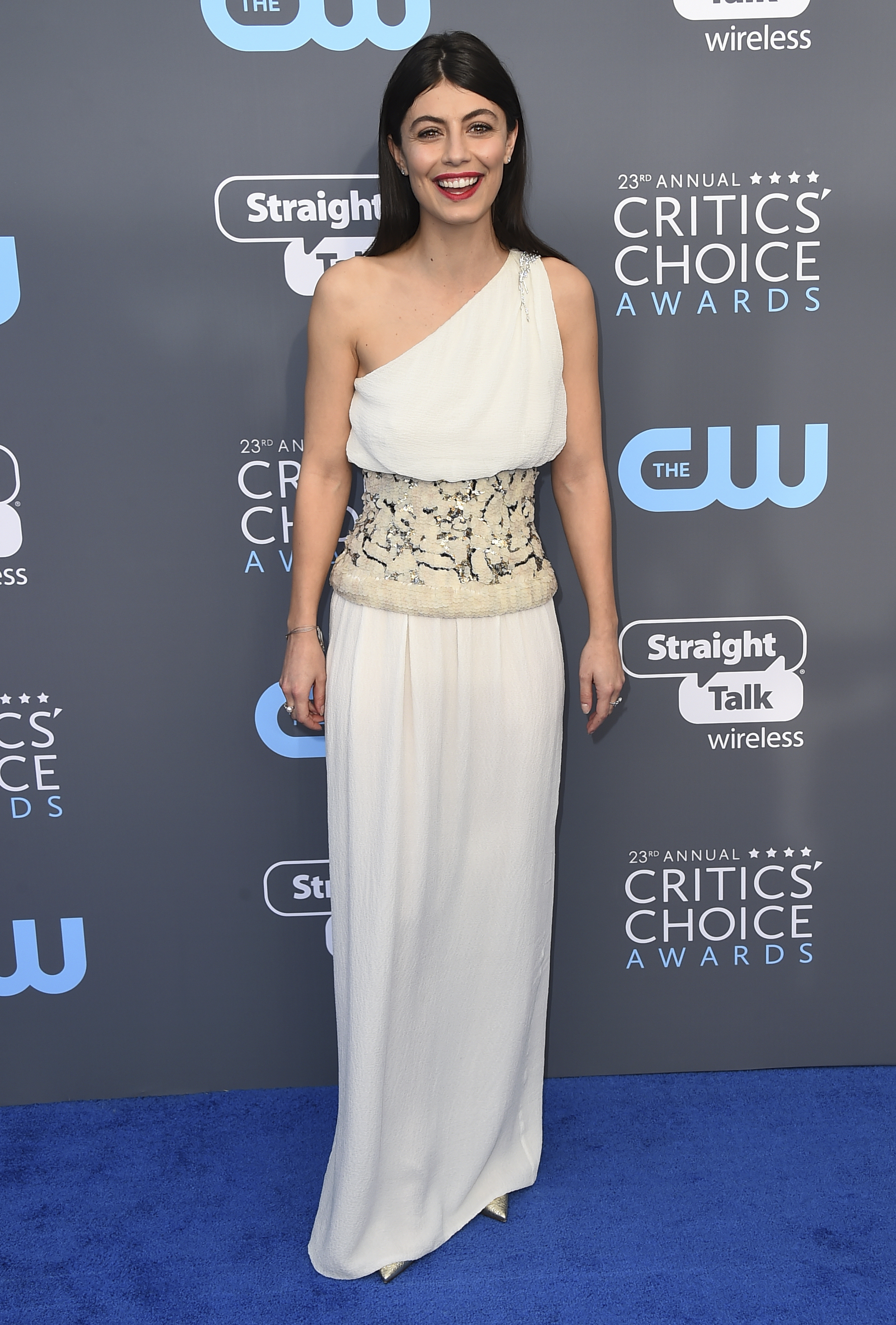 <div class='meta'><div class='origin-logo' data-origin='AP'></div><span class='caption-text' data-credit='Jordan Strauss/Invision/AP'>Alessandra Mastronardi arrives at the 23rd annual Critics' Choice Awards at the Barker Hangar on Thursday, Jan. 11, 2018, in Santa Monica, Calif.</span></div>