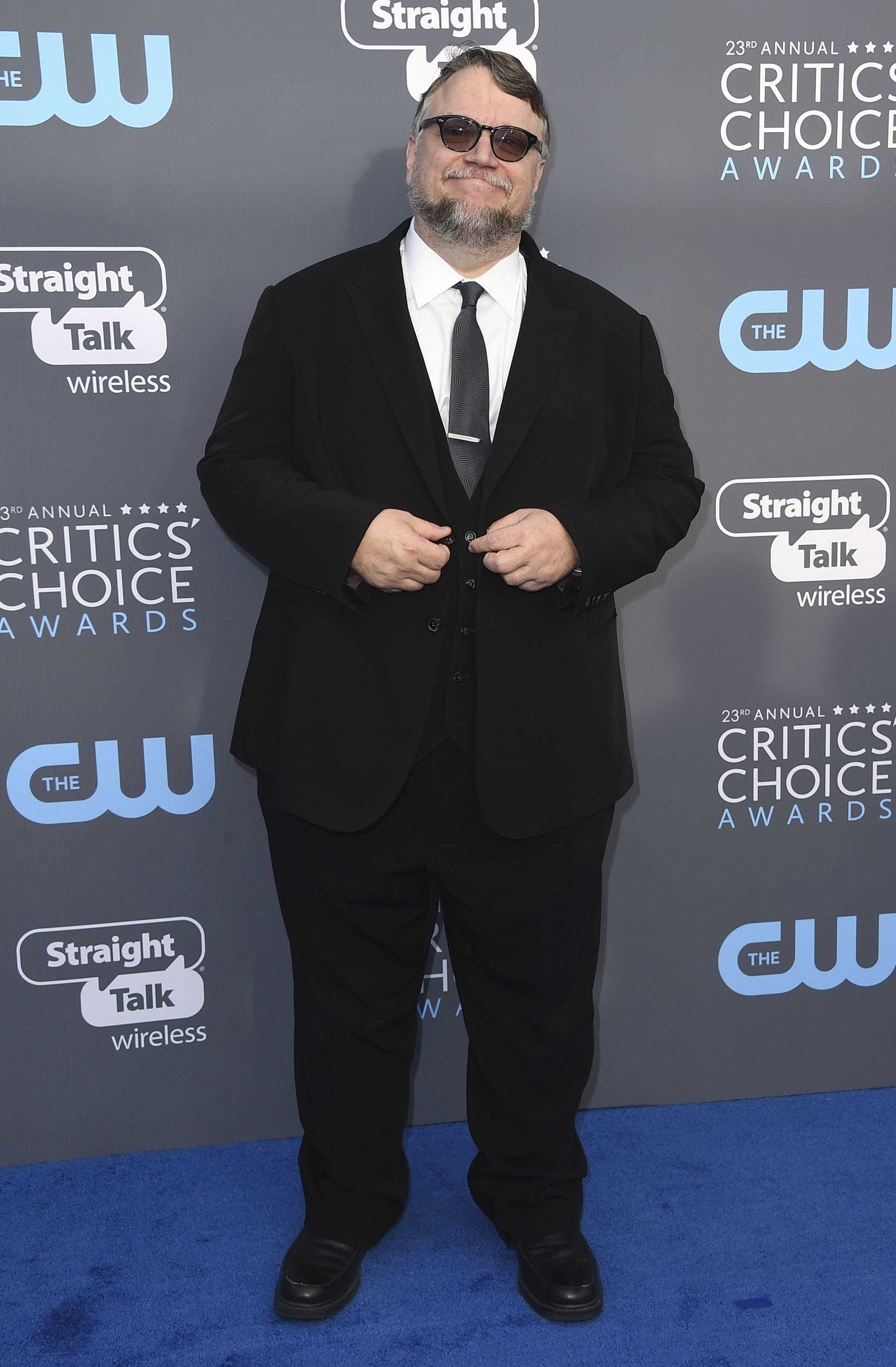 <div class='meta'><div class='origin-logo' data-origin='AP'></div><span class='caption-text' data-credit='Jordan Strauss/Invision/AP'>Guillermo del Toro arrives at the 23rd annual Critics' Choice Awards at the Barker Hangar on Thursday, Jan. 11, 2018, in Santa Monica, Calif.</span></div>