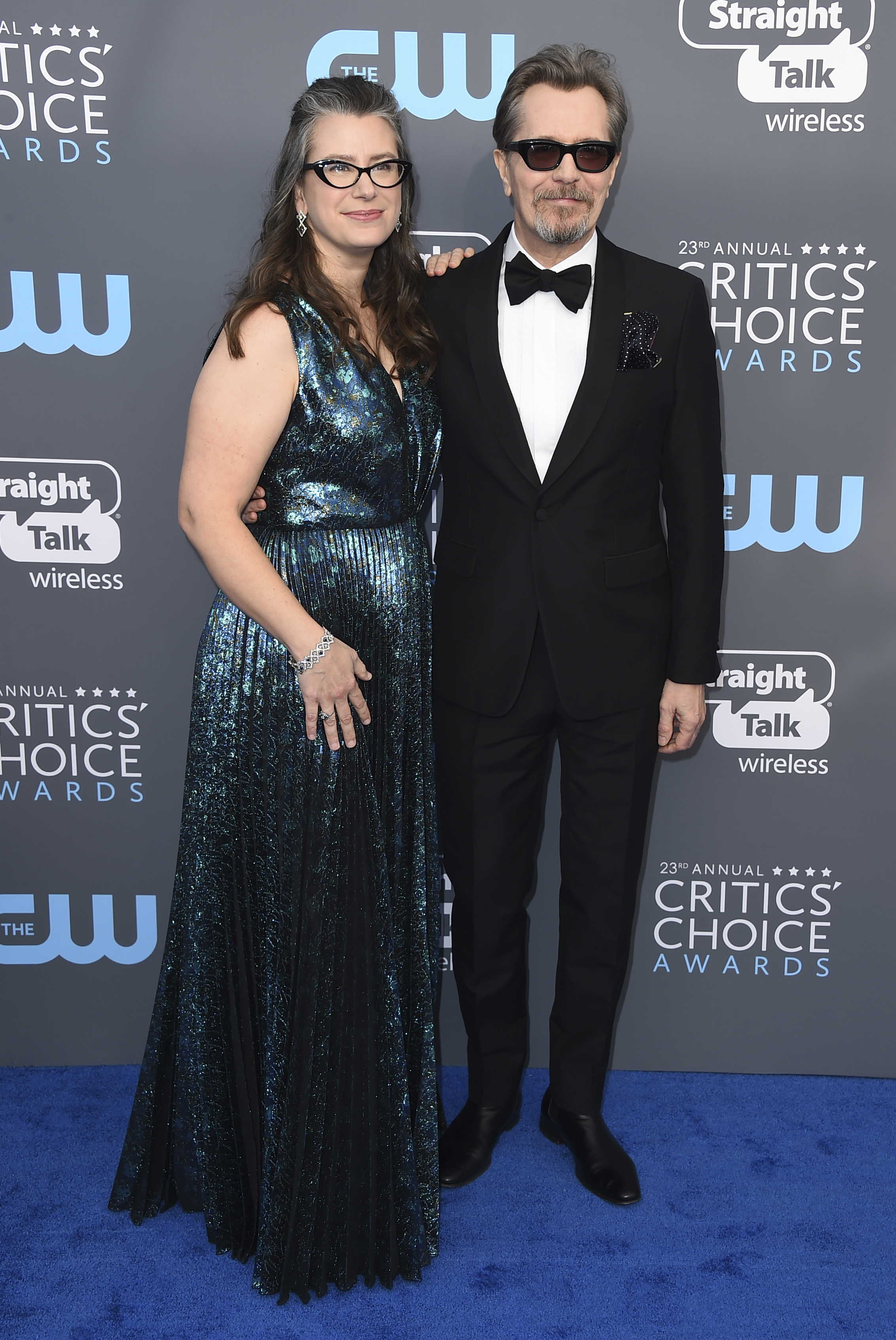 <div class='meta'><div class='origin-logo' data-origin='AP'></div><span class='caption-text' data-credit='Jordan Strauss/Invision/AP'>Gisele Schmidt, left, and Gary Oldman arrive at the 23rd annual Critics' Choice Awards at the Barker Hangar on Thursday, Jan. 11, 2018, in Santa Monica, Calif.</span></div>