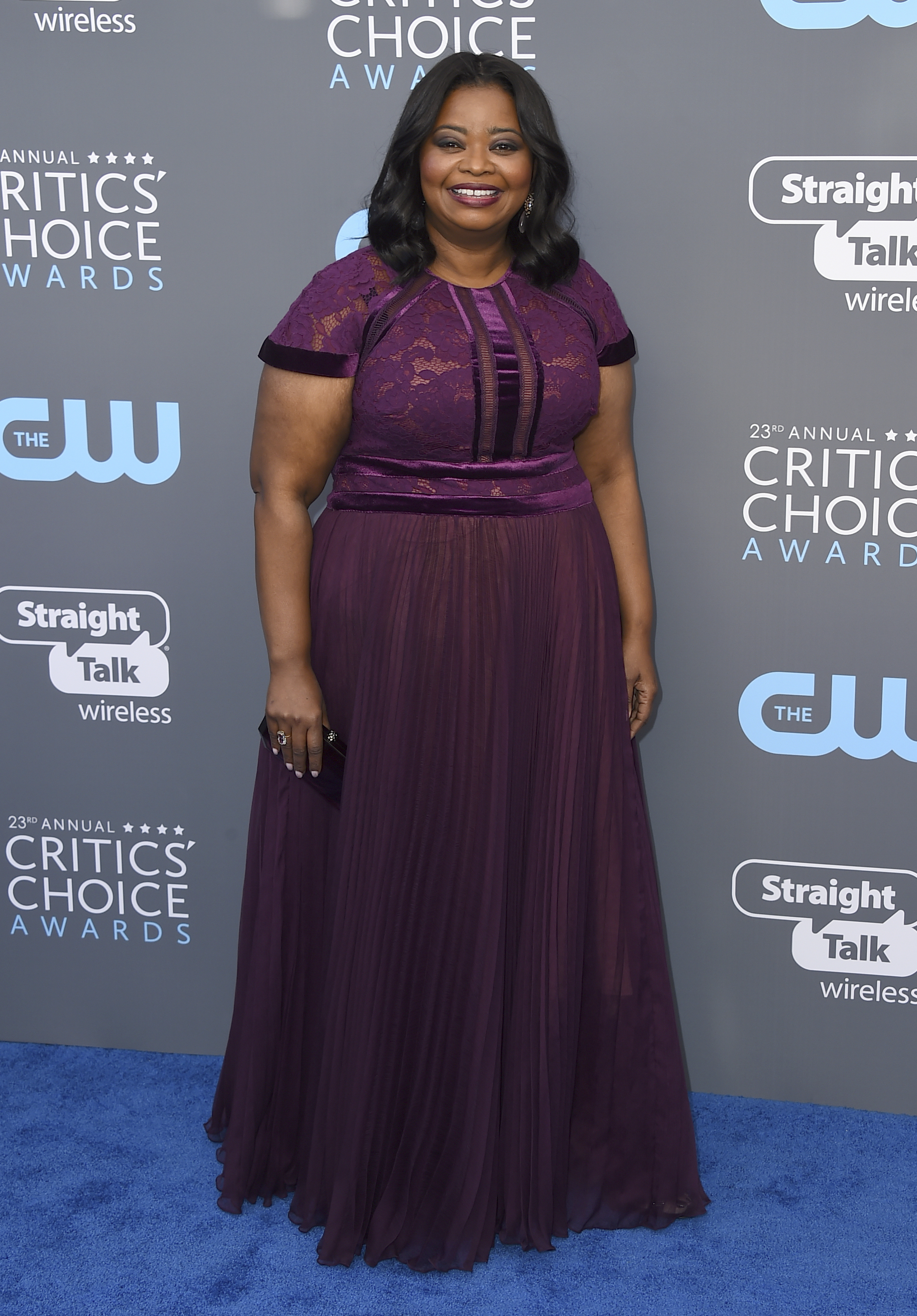 <div class='meta'><div class='origin-logo' data-origin='AP'></div><span class='caption-text' data-credit='Jordan Strauss/Invision/AP'>Octavia Spencer arrives at the 23rd annual Critics' Choice Awards at the Barker Hangar on Thursday, Jan. 11, 2018, in Santa Monica, Calif.</span></div>