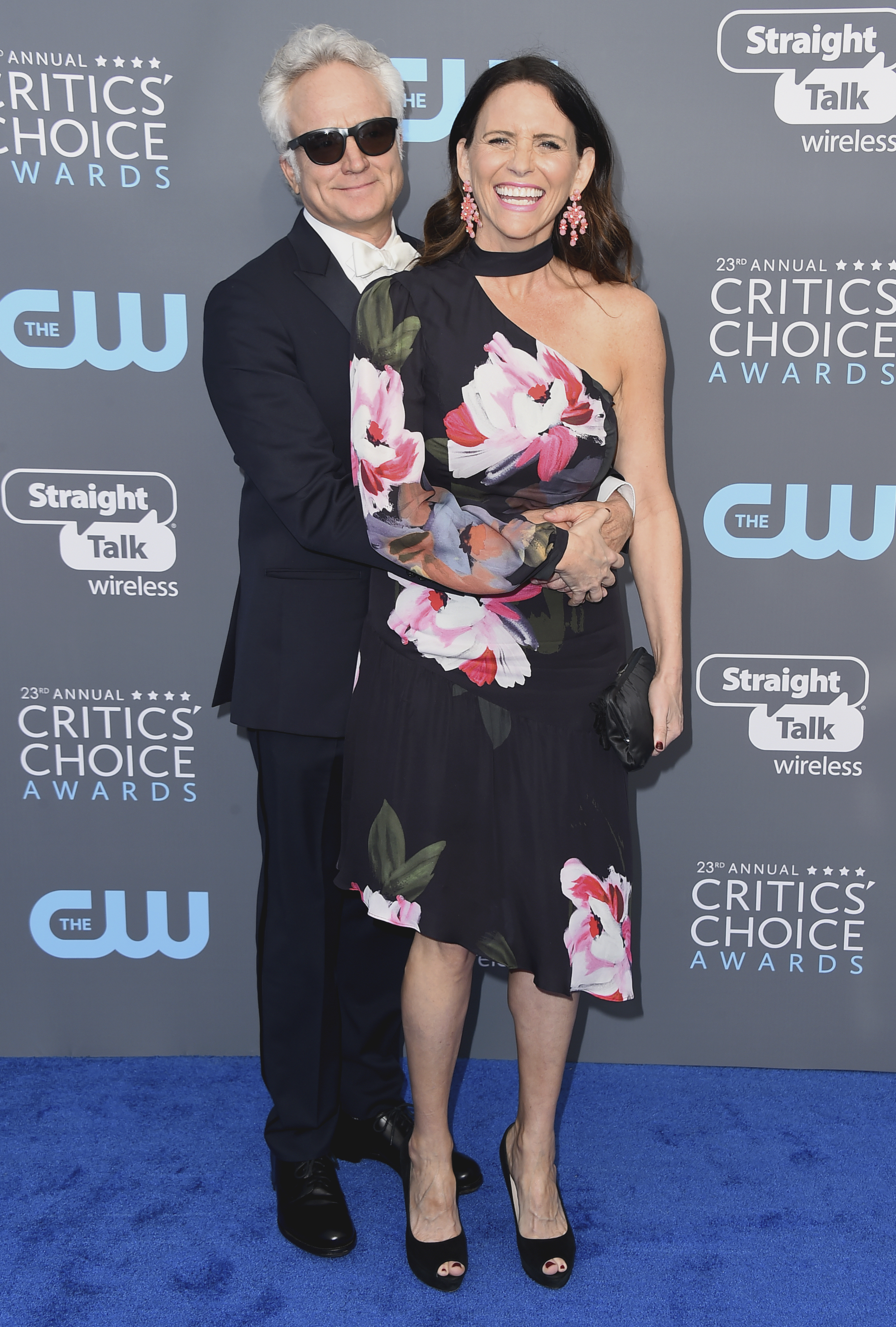 <div class='meta'><div class='origin-logo' data-origin='AP'></div><span class='caption-text' data-credit='Jordan Strauss/Invision/AP'>Bradley Whitford, left, and Amy Landecker arrive at the 23rd annual Critics' Choice Awards at the Barker Hangar on Thursday, Jan. 11, 2018, in Santa Monica, Calif.</span></div>