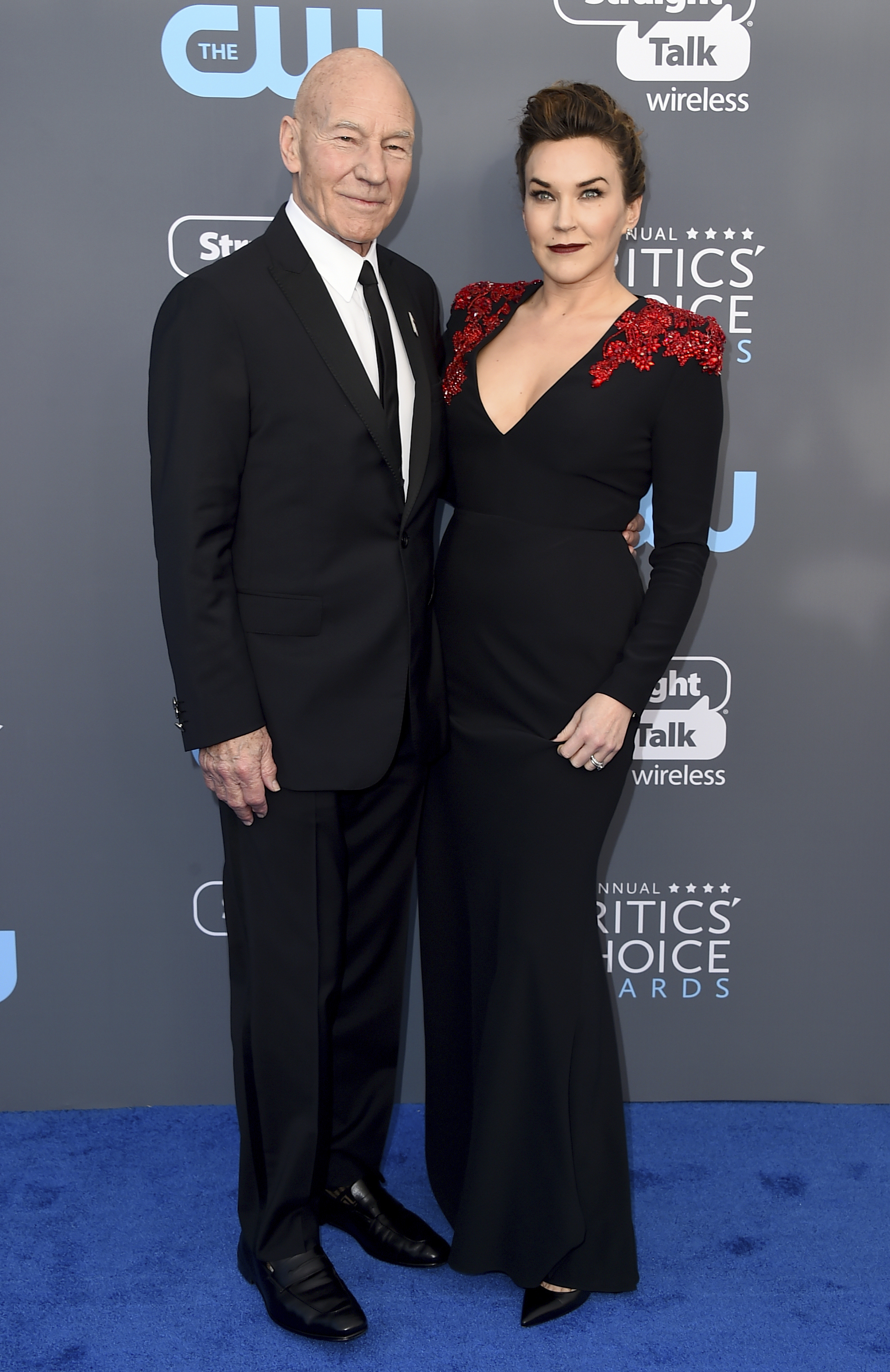 <div class='meta'><div class='origin-logo' data-origin='AP'></div><span class='caption-text' data-credit='Jordan Strauss/Invision/AP'>Patrick Stewart, left, and Sunny Ozell arrive at the 23rd annual Critics' Choice Awards at the Barker Hangar on Thursday, Jan. 11, 2018, in Santa Monica, Calif.</span></div>