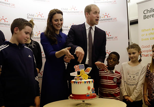 <div class='meta'><div class='origin-logo' data-origin='none'></div><span class='caption-text' data-credit='Matt Dunham, Pool/AP Photo'>Britain's Prince William and Kate the Duchess of Cambridge prepare to cut a cake to celebrate the one year anniversary of this charity's branch on Jan. 11.</span></div>