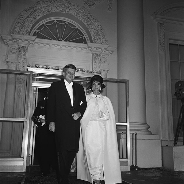 <div class='meta'><div class='origin-logo' data-origin='none'></div><span class='caption-text' data-credit='AP Photo'>President and Mrs. John Kennedy leave the White House January 20, 1961 for a tour of inaugural balls.</span></div>