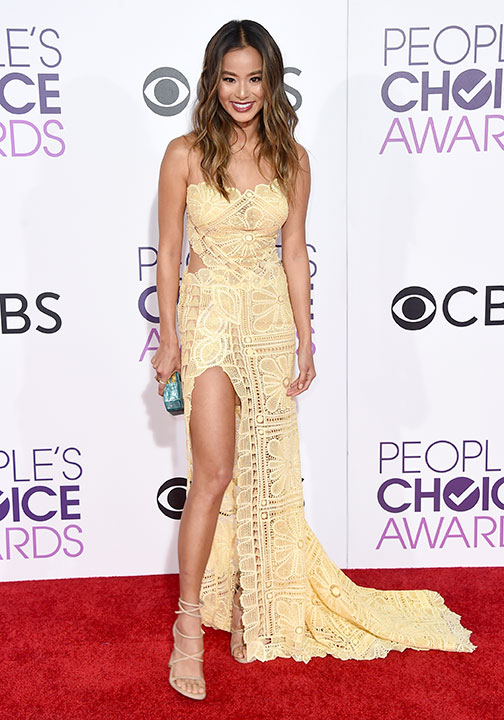 "<div class=""meta image-caption""><div class=""origin-logo origin-image none""><span>none</span></div><span class=""caption-text"">Jamie Chung arrives at the People's Choice Awards at the Microsoft Theater on Wednesday, Jan. 18, 2017, in Los Angeles. (Jordan Strauss/Invision/AP)</span></div>"