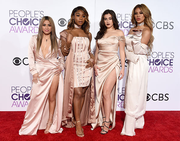 "<div class=""meta image-caption""><div class=""origin-logo origin-image none""><span>none</span></div><span class=""caption-text"">Ally Brooke, from left, Normani Kordei, Lauren Jauregui, and Dinah Jane of the musical group Fifth Harmony arrive. (Jordan Strauss/Invision/AP)</span></div>"