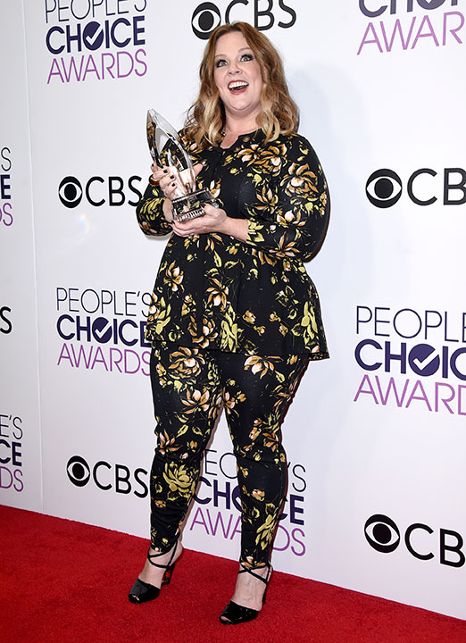 "<div class=""meta image-caption""><div class=""origin-logo origin-image none""><span>none</span></div><span class=""caption-text"">Melissa McCarthy poses in the press room with he award for favorite comedic movie actress at the People's Choice Awards at the Microsoft Theater on Wednesday, Jan. 18, 2017. (Jordan Strauss/Invision/AP)</span></div>"