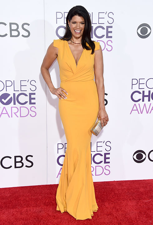 "<div class=""meta image-caption""><div class=""origin-logo origin-image none""><span>none</span></div><span class=""caption-text"">Andrea Navedo arrives at the People's Choice Awards at the Microsoft Theater on Wednesday, Jan. 18, 2017, in Los Angeles. (Jordan Strauss/Invision/AP)</span></div>"
