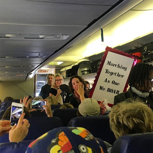 <div class='meta'><div class='origin-logo' data-origin='none'></div><span class='caption-text' data-credit='@taskered'>&#34;En route to the women's march in DC! This gal got quite the applause as she boarded&#34;</span></div>