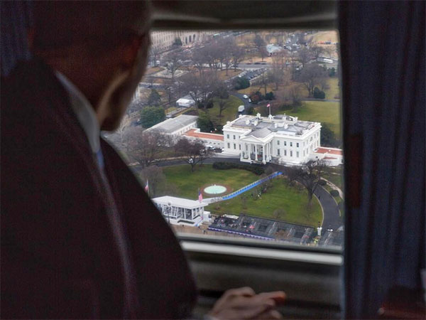 <div class='meta'><div class='origin-logo' data-origin='none'></div><span class='caption-text' data-credit='Pete Souza/Instagram'>Former Barack Obama's official photographer, Pete Souza, posted this photo with the caption ''Farewell.''</span></div>
