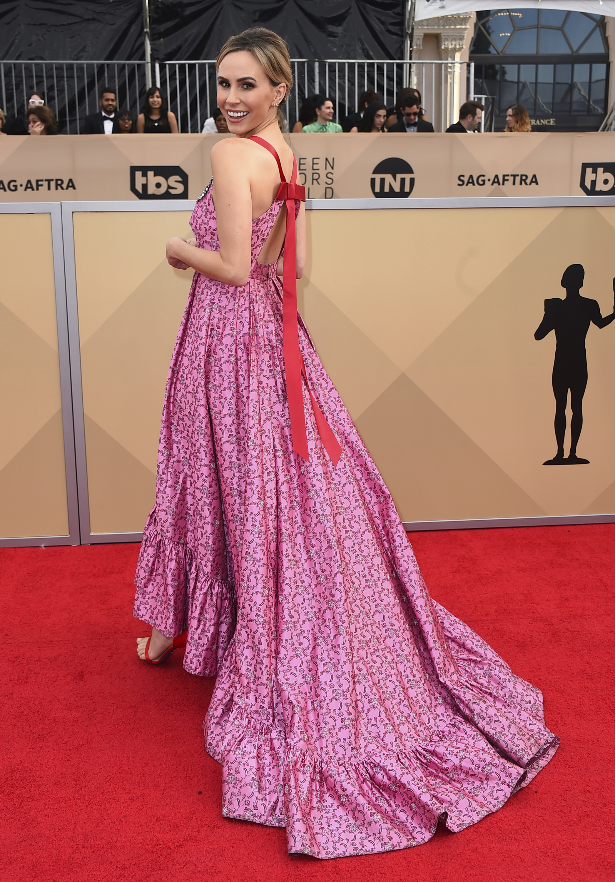 <div class='meta'><div class='origin-logo' data-origin='AP'></div><span class='caption-text' data-credit='Jordan Strauss/Invision/AP'>Keltie Knight arrives at the 24th annual Screen Actors Guild Awards at the Shrine Auditorium & Expo Hall on Sunday, Jan. 21, 2018, in Los Angeles.</span></div>
