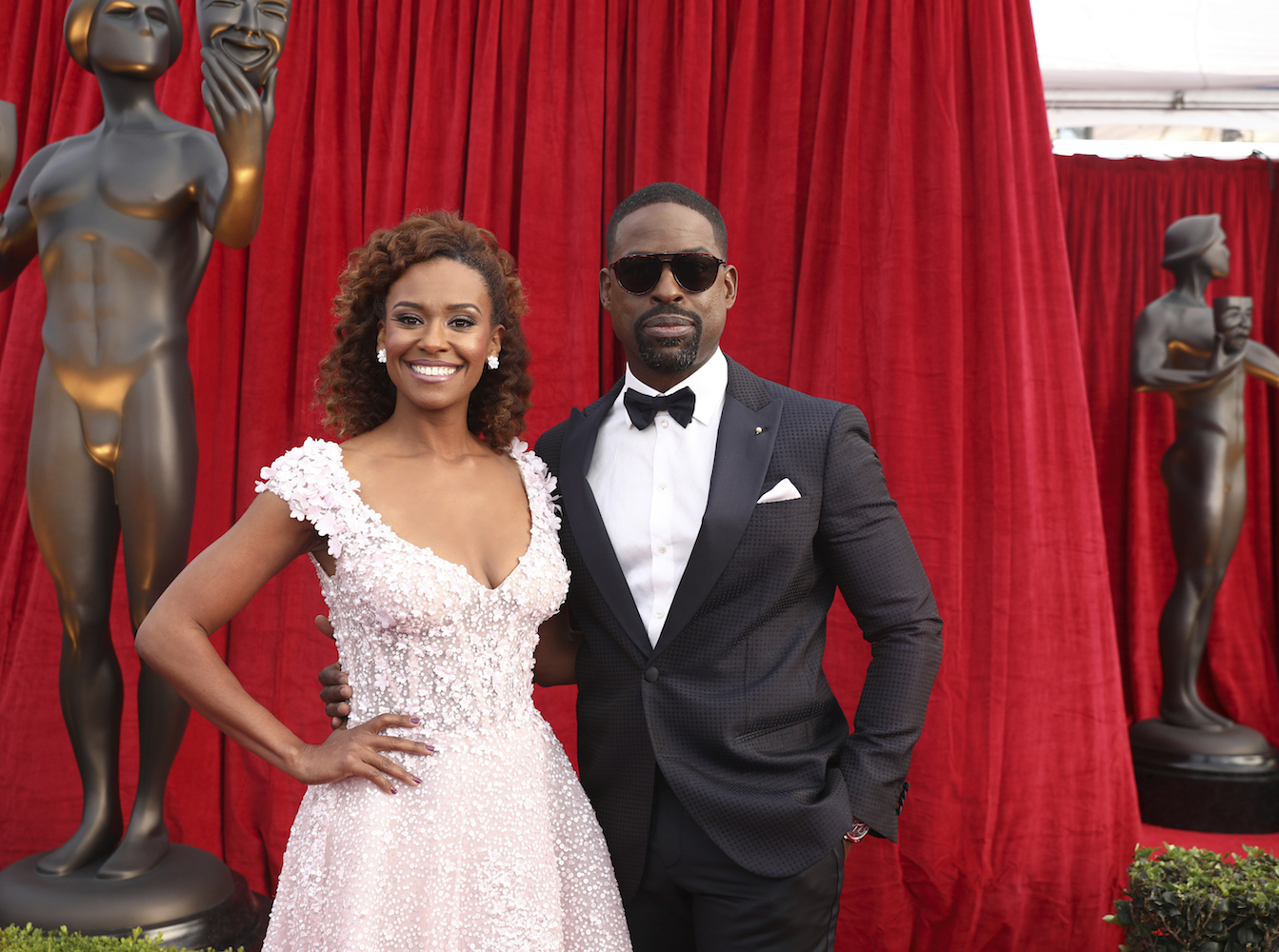 <div class='meta'><div class='origin-logo' data-origin='AP'></div><span class='caption-text' data-credit='Matt Sayles/Invision/AP'>Sterling K. Brown, right, and Ryan Michelle Bathe arrive at the 24th annual Screen Actors Guild Awards at the Shrine Auditorium.</span></div>