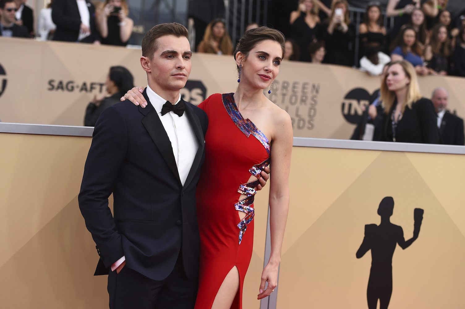 <div class='meta'><div class='origin-logo' data-origin='AP'></div><span class='caption-text' data-credit='Jordan Strauss/Invision/AP'>Dave Franco, left, and Alison Brie arrive at the 24th annual Screen Actors Guild Awards at the Shrine Auditorium & Expo Hall on Sunday, Jan. 21, 2018, in Los Angeles.</span></div>