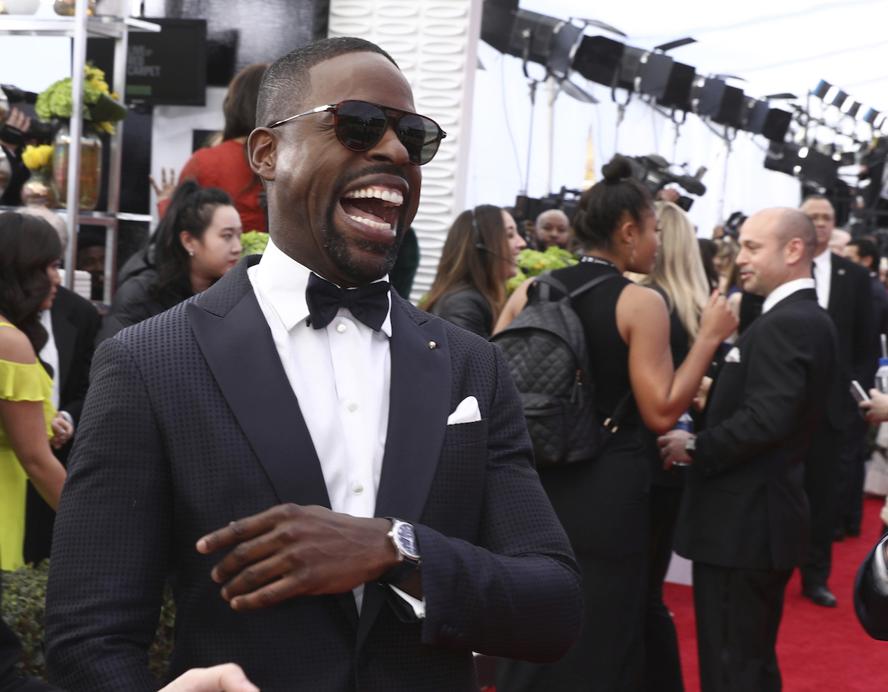 <div class='meta'><div class='origin-logo' data-origin='AP'></div><span class='caption-text' data-credit='Matt Sayles/Invision/AP'>Sterling K. Brown arrives at the 24th annual Screen Actors Guild Awards at the Shrine Auditorium & Expo Hall on Sunday, Jan. 21, 2018, in Los Angeles.</span></div>