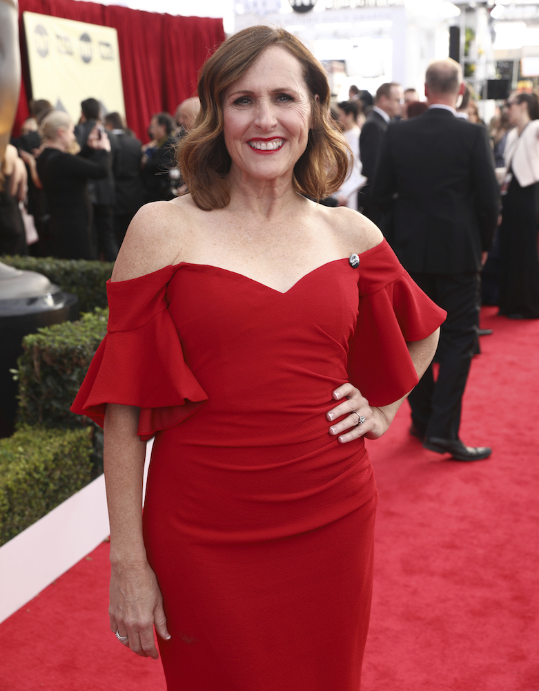 <div class='meta'><div class='origin-logo' data-origin='AP'></div><span class='caption-text' data-credit='Matt Sayles/Invision/AP'>Molly Shannon arrives at the 24th annual Screen Actors Guild Awards at the Shrine Auditorium & Expo Hall on Sunday, Jan. 21, 2018, in Los Angeles.</span></div>