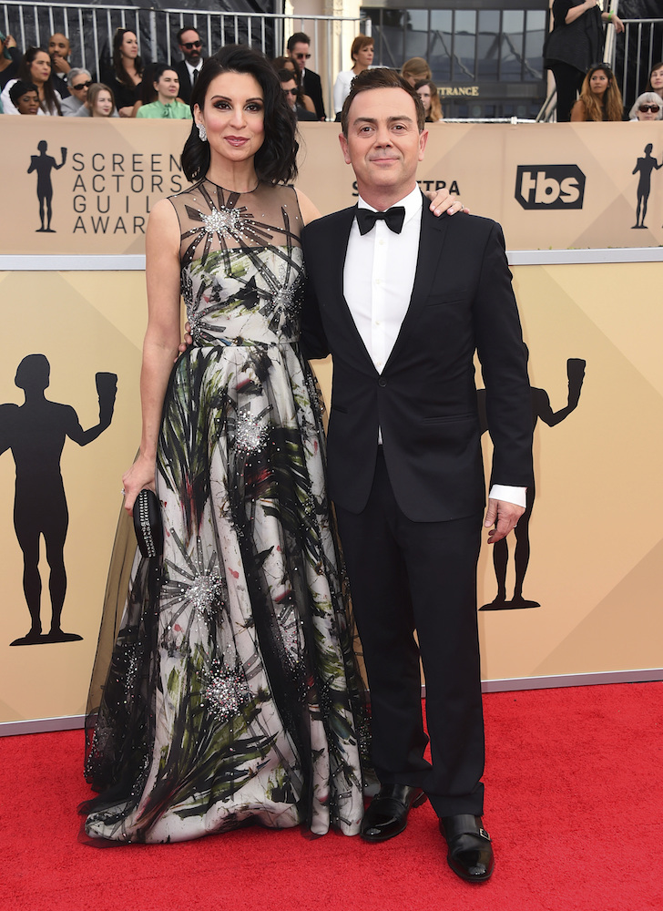 <div class='meta'><div class='origin-logo' data-origin='AP'></div><span class='caption-text' data-credit='Jordan Strauss/Invision/AP'>Beth Dover, left, and Joe Lo Truglio arrive at the 24th annual Screen Actors Guild Awards at the Shrine Auditorium & Expo Hall on Sunday, Jan. 21, 2018, in Los Angeles.</span></div>