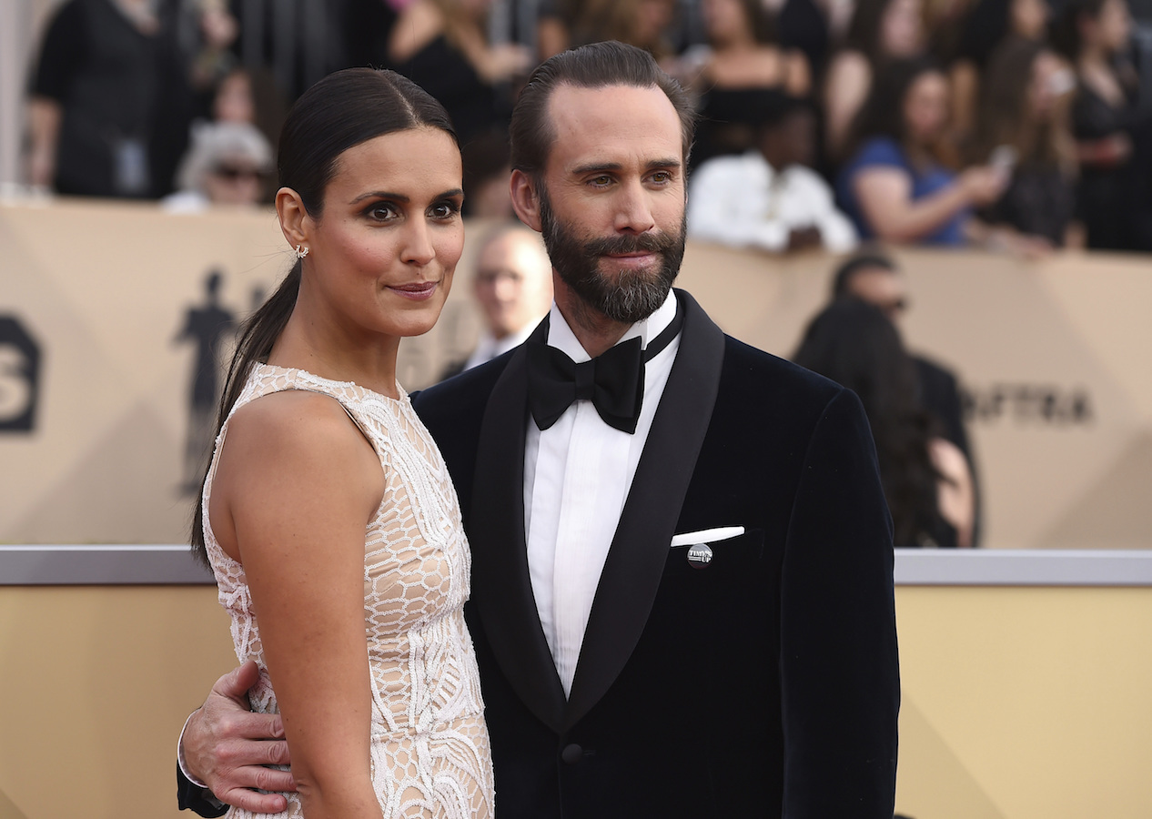 <div class='meta'><div class='origin-logo' data-origin='AP'></div><span class='caption-text' data-credit='Jordan Strauss/Invision/AP'>Maria Dolores Dieguez, left, and Joseph Fiennes arrive at the 24th annual Screen Actors Guild Awards at the Shrine Auditorium & Expo Hall.</span></div>