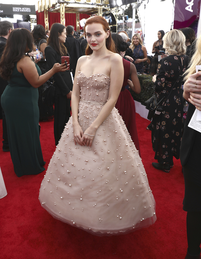 <div class='meta'><div class='origin-logo' data-origin='AP'></div><span class='caption-text' data-credit='Matt Sayles/Invision/AP'>Madeline Brewer arrives at the 24th annual Screen Actors Guild Awards at the Shrine Auditorium & Expo Hall on Sunday, Jan. 21, 2018, in Los Angeles.</span></div>