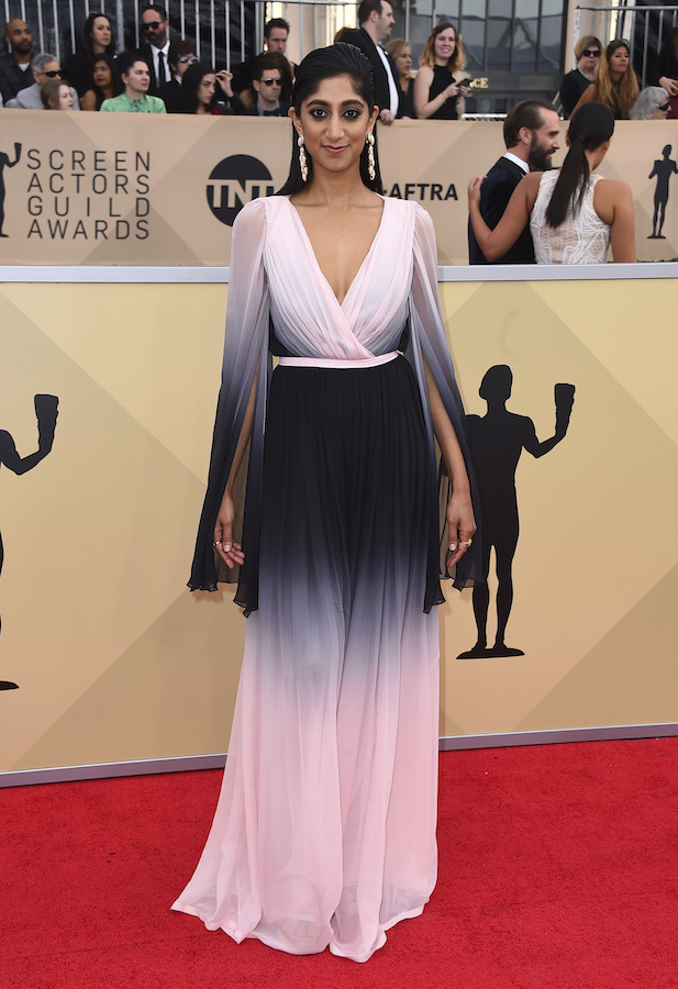 <div class='meta'><div class='origin-logo' data-origin='AP'></div><span class='caption-text' data-credit='Jordan Strauss/Invision/AP'>Sunita Mani arrives at the 24th annual Screen Actors Guild Awards at the Shrine Auditorium & Expo Hall on Sunday, Jan. 21, 2018, in Los Angeles.</span></div>